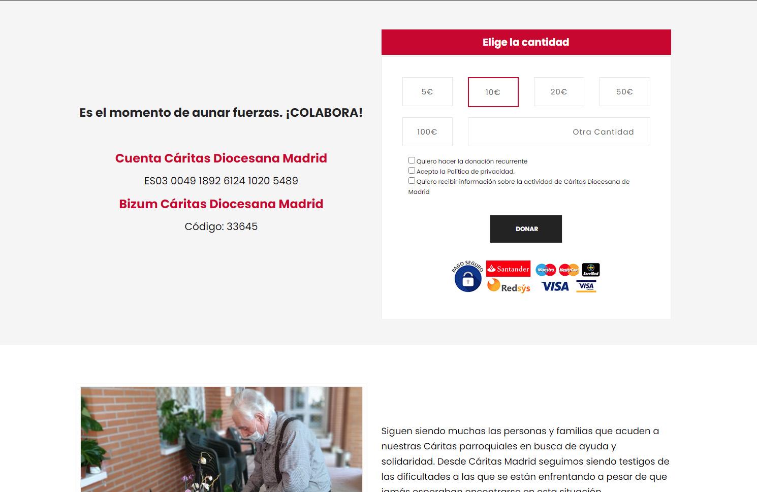 Campaña Navidad Cáritas Madrid